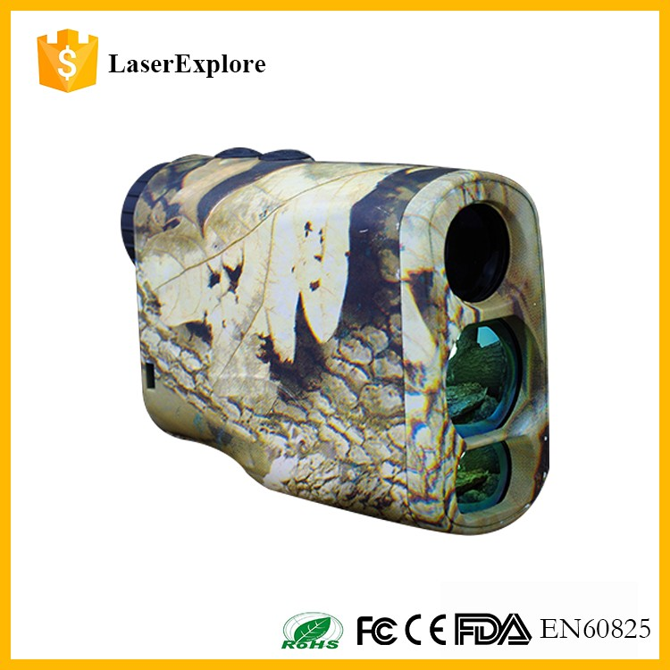 Portable mini monocular refractor telescope laser rangefinder for hunting,golf,hiking and military
