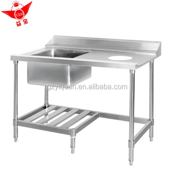 Multi Purpose Stainless Steel Work Table With Kitchen Sink Under Shelf Work Bench Work