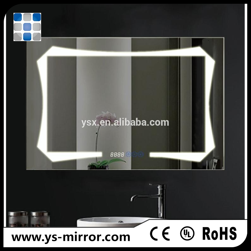2017 time display led lighting mirror touch sensor switch used bedroom furniture for sale