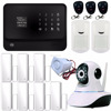 2016 new products gsm wifi burglar alarm system home security with IP camera