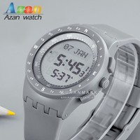 Digital Muslim Prayer Watch with Azan Time Alarm
