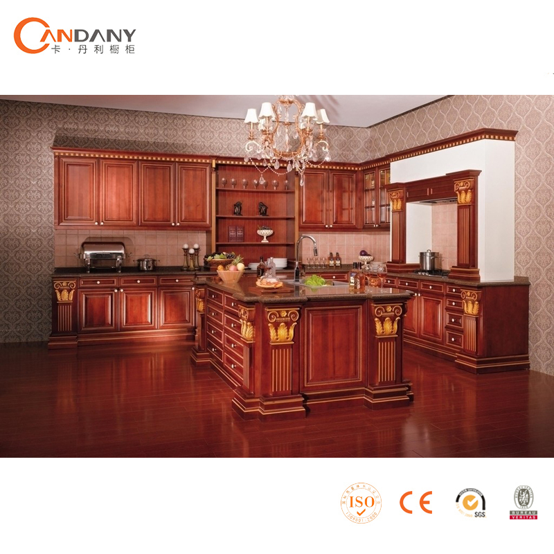 Classic integrated household solid wood kitchen cabinet ,wood rolling kitchen cabinet doors