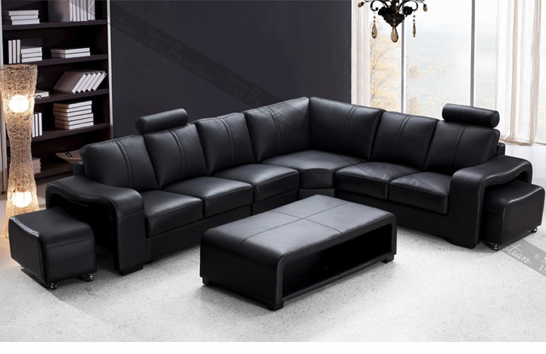 Home Design Leather Sofa For Furniture Living Room Big