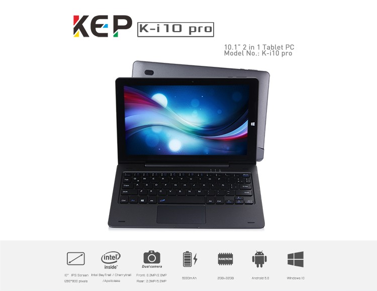 best selling products K-I10 Pro 2gb ram 32gb 2 in 1 phone 10inch tablet pc win