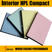 waterproof fire resistant phenolic hpl compact laminate / formica compact laminate hpl
