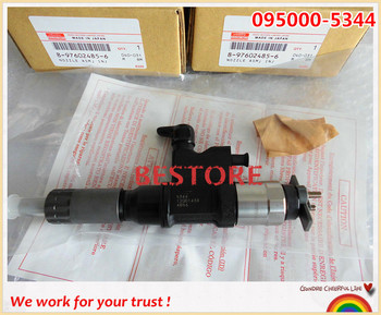 Genuine common rail injector 095000-5344 / 095000-5342 for 4HK1, 6HK1 8-97602485-6