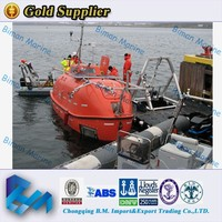 China Supply Sail Fire Protected Fiberglass Lifeboat Rescue boat