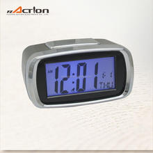 Chinese Supplier Multi Function Battery Operated Calendar Alarm Clock 3d LED Clock with Backlight
