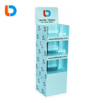 China Supplier Easy to Assemble POP Cardboard Floor Display Shelves