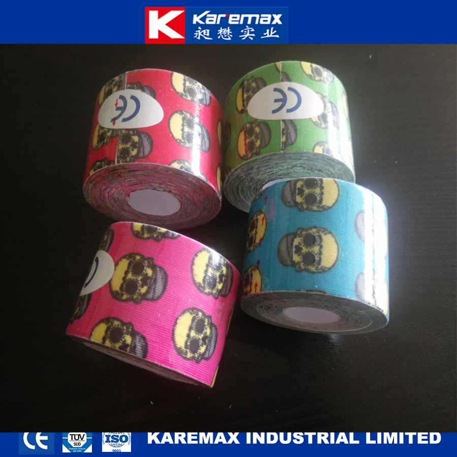 KAREMAX Printed Kinesios Water Proof Sport Tape with CE/ISO Approved