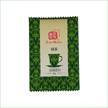 China Supplier Aluminum Foil Heat Cut Green Tea Packaging Bag Plastic Empty Tea Bag