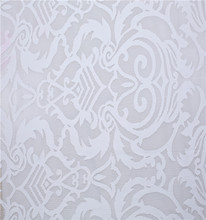 German Jaquard Polyester White Dress Making Lace Fabric