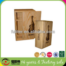 Hard wood 3 litre wine box for sale