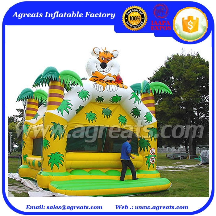 Leisure style children inflatable trampoline outdoor used commercial inflatable bouncer cheap on sale G1089