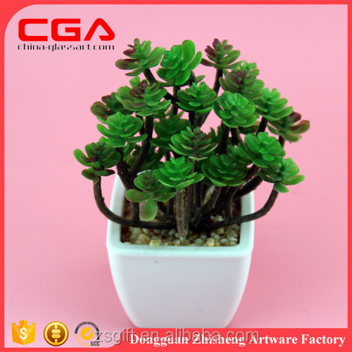 Garden supplies item type small artificial Leafy plant with square plastic pot