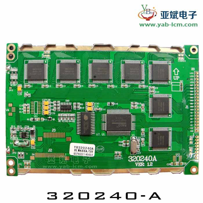 5.7 -inch 320240 industrial screen, directly compatible with RA8835 monochromatic LCD, LED backlight