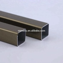 anodized 10mm thickness aluminum profile square tube