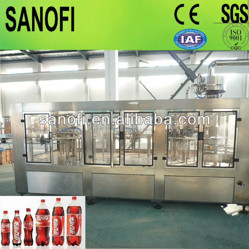 3 IN 1 Automatic Carbonated Soft Drink Production Line / Machine / Plant, 0.25-2Liter, for PET Bottle, ON SALE
