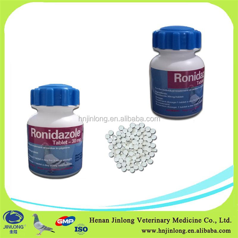 Wholesale Lasted Antibiotics Pigeon Medicines 30% Ronidazole Tablets