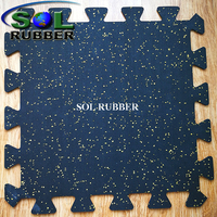 3mm Interlocking Gym Rubber Floor Tile
