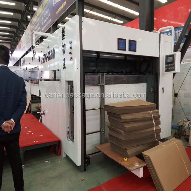 Automatic die cutting and creasing machine for corrugated carton/punching machine/hot foil stamping machine