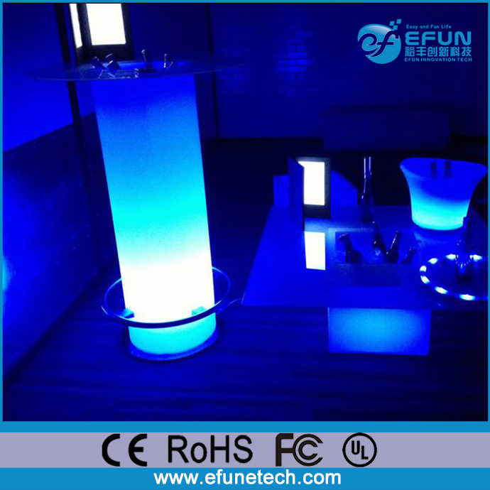 rechargeable rgb color illuminated cocktail bar led outdoor ice cooler table