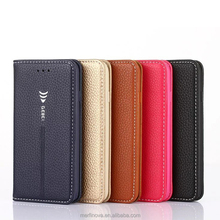 Genuine Leather Case for iphone 7 Wallet Style Flip Stand Phone Back Cover Coque For iphone 8 Cases