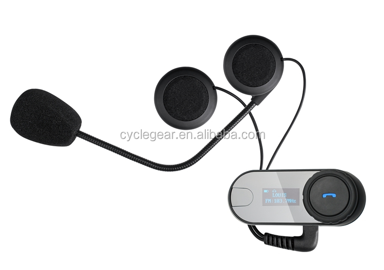 1000m LCD Bluetooth Motorcycle helmet Intercom headset carrying FM Radio