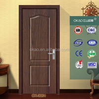 wooden door design with glass for apartment bedroom