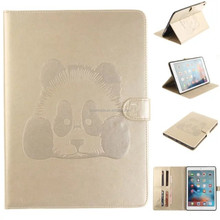 Fashion embossed Pattern panda Wallet tablet leather case for ipad pro
