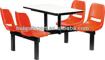 Metal frame dining seats/Plastic dining table