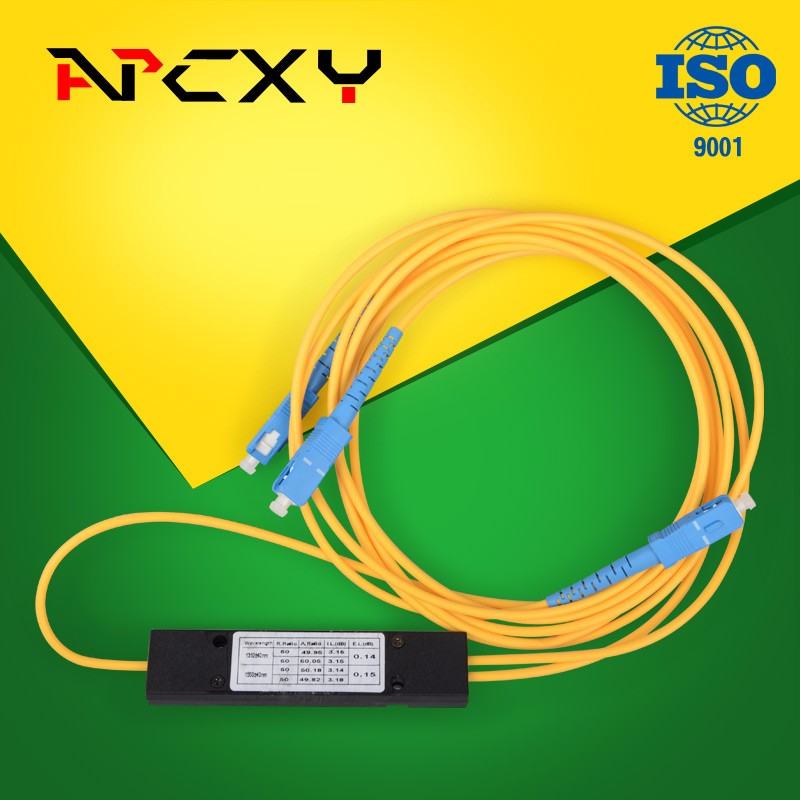 1X2 SC/UPC PLC Splitter Module Optical Fiber Splitter 1310/1550 optical splitter2.0MM