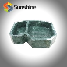 India Green Double Bowl Stone Kitchen Sink