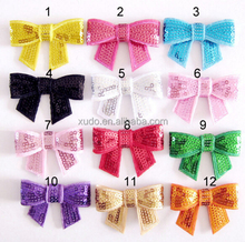 DIY handmade sequin bow 5cm 12 colors available