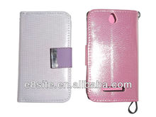 Hot Sale Glitter Wallet Leather Case For Sony Xperia E Dual C1605 C1505