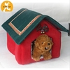 Christmas Pet Products Wholesale Velvet Dog House Pet Bed
