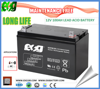 Solar Energy Battery Gel battery sealed lead acid battery 12v100ah for win power system