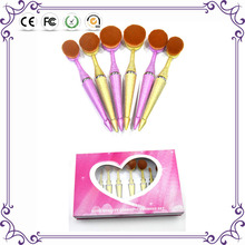Miracle New Arrival Tooth Brush Style private label 10PCS Makeup brush set/Oval BB Cream Foundation makeup Brushes