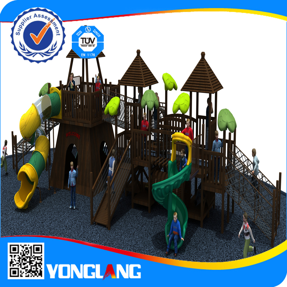 used kids outdoor wooden playground equipment for sale
