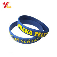 Hot sale embossed /debossed /printed silicone wristband for promotion with full color