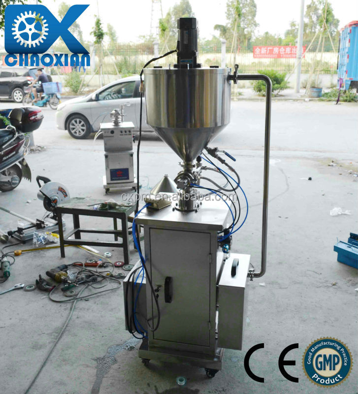 China ChaoXian semi-automatic vertical pudding hot filling machine