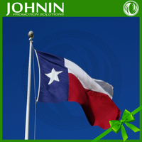 Fast quality Promotional custom 3*5ft polyester printed Texas flag