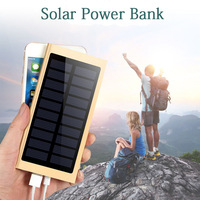 Ultra Thin Solar Power Bank 20000mah Portable External Battery Pack Charger Dual USB Solar Charger For Smartphones