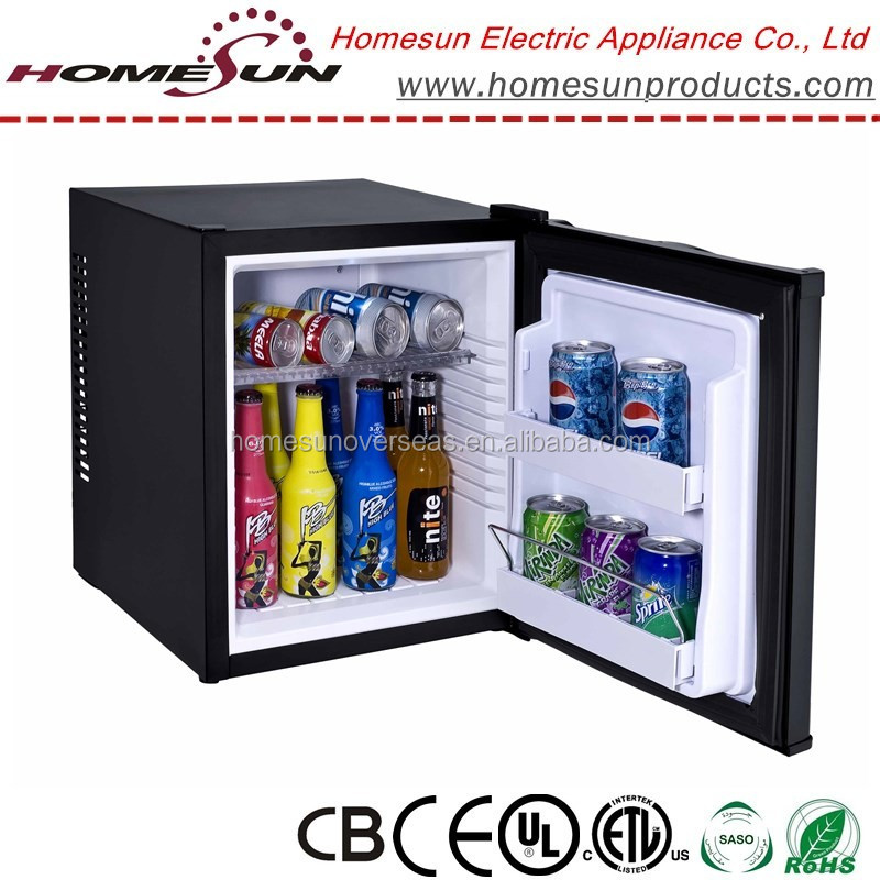 36L electric noise free hotel mini bar/mini fridge with glass door for hotel room/home with CE certificate