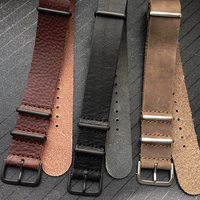 High Quality Leather Watch Band Fashion Genuine Leather Watch Strap