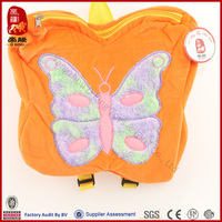 hot sale plush butterfly backbag toys manufacture