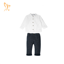New childrens boutique clothing sets oem design cotton baby boys casual suit