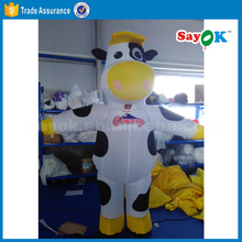 inflatable animal suit human size walking inflatable milk cow costume