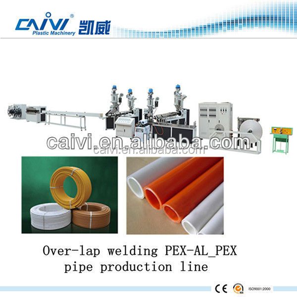PE Pipe Production Machine line Over-lap welding PE AL PEX pipe production line machine