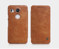 nillkin vintage style light flip leather phone case for lg nexus 5x